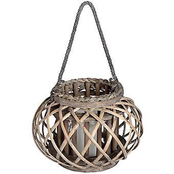 Hill Interiors Wicker Basket Lantern
