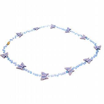 البند هدية مطرز قلادة الفراشة الأرجوانية للبنات