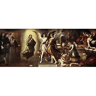 Angels ' Kitchen, Bartolome Esteban Murillo, 80x32cm