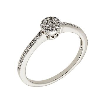 Bertha Sophia Collection Women's 18k WG Plated Stackable Pave Fashion Ring Size 5