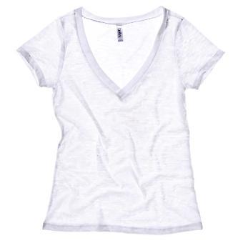 Bella Canvas Ladies Burn-Out V-Neck T-Shirt