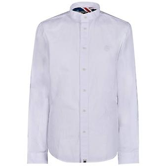 PRETTY GREEN White Slim Fit Collarless Shirt