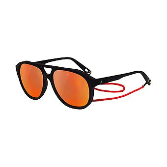 VUARNET VL1607 black Matt Pure Blue Red Flash