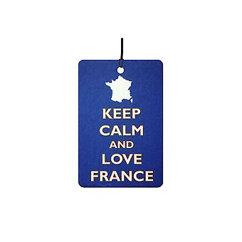Keep Calm And Love France Car Air Freshener