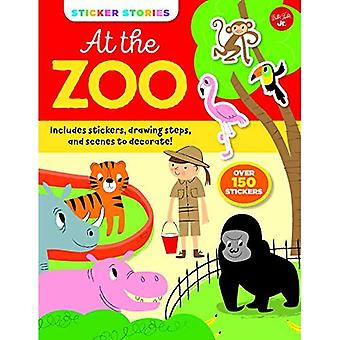 Sticker Stories: At the Zoo: Includes stickers, drawing steps, and scenes to decorate! (Sticker Stories)