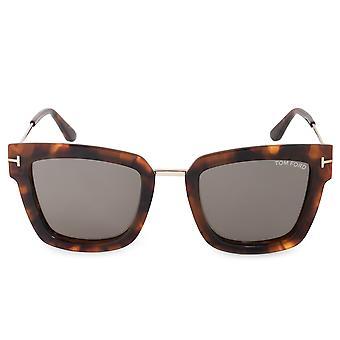 Tom Ford Lara-02 FT0573 55A 52 Quadratische Sonnenbrille