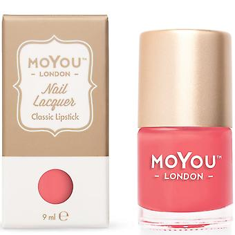 MoYou London Stamping Nail Lacquer - Rouge à lèvres classique 9ml (MN026)
