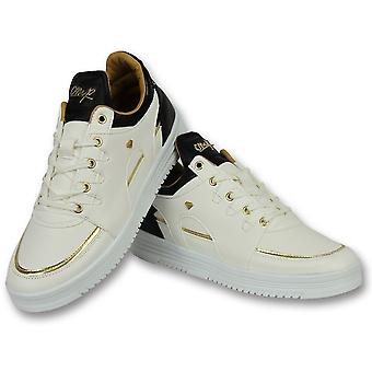 Sneakers High - Shoes Luxury White Black - White
