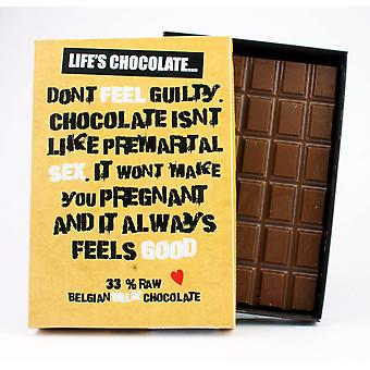 Funny Boxed Chocolate Quote Gift For Men Women Best Friend Greeting Card for Him or Her LC107