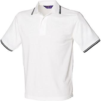 Henbury - Mens 65/35 Tipped Piqué Polo Shirt