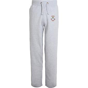 Royal Army Physical Training Corps PTI - Colour - Licensed British Army Embroidered Open Hem Sweatpants / Jogging Bottoms