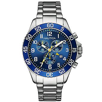 Nautica nst-19 Quartz Analog Man Watch with NAI17508G Stainless Steel Bracelet