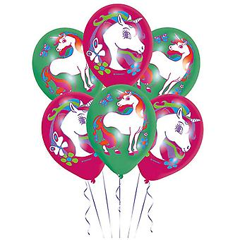 Amscan 11in Unicorn Latex Balloons (Pack Of 6)