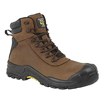 Grafters Mens Leather Laced 7in Safety Boot