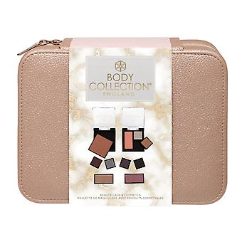 Body Collection Rose Gold Faux Leather Beauty Case & Cosmetics