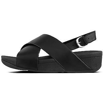 Fitflop™ Lulu Cross Back-strap Black Sandal