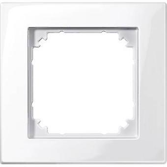 Merten 1x Frame M-Plan Polar white glossy 515119
