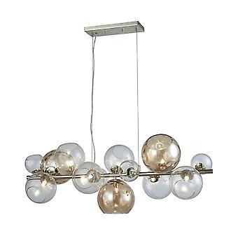 Bubble bar 9-light island light