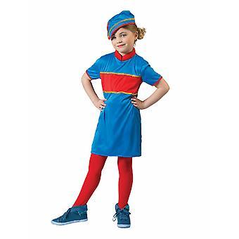 Stewardess Flugzeugbegleiterin Mädchenkostüm Berufe Flugzeug Uniform Mädchenkostüm