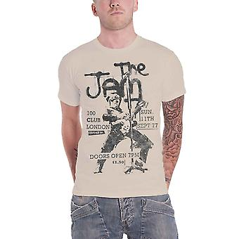 The Jam T Shirt Live 100 Club 1977 Flyer new Official Mens White