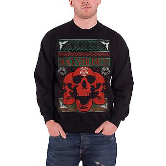 Black Veil Brides Christmas Jumper Sweatshirt Skulls Official Mens New Black