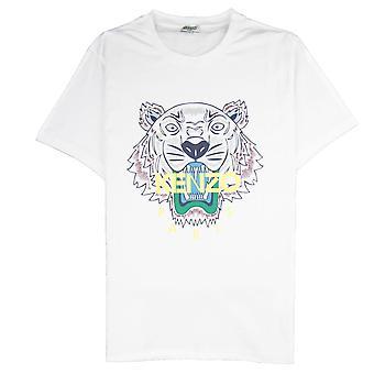 Kenzo Tiger T-skjorte hvit/gul