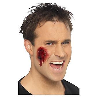 Blutige Wunden, Haut rot, farbige, selbst Klebstoff, 12 Stück Fancy Dress Zubehör