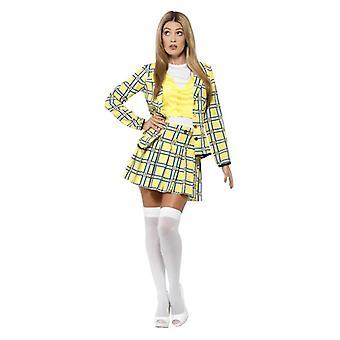 Womens Clueless Cher Fancy kjole kostyme