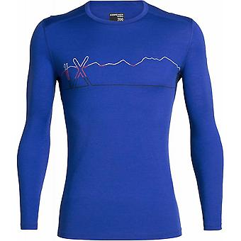 Icebreaker Oasis LS Crewe Single Line Ski - Gritstone Heather