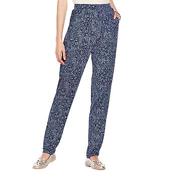 Amber Ladies Jersey Straight Leg Trouser Print