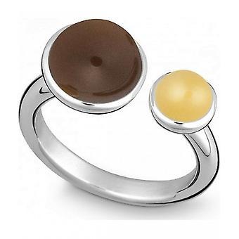 QUINN-ring-kvinnor-silver 925-ädelsten-Smoky Quartz-bredd 56-21080632