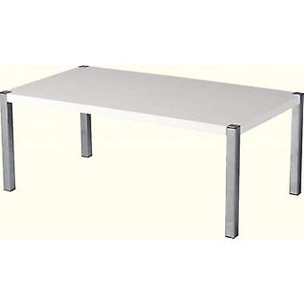 Charisma Coffee Table - White Gloss/chrome