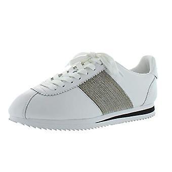 DKNY Womens Tezi Leather Embellished Fashion Sneakers