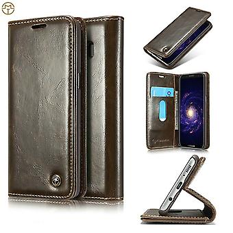 Case For Samsung Galaxy S8 Plus Brown Card Holder