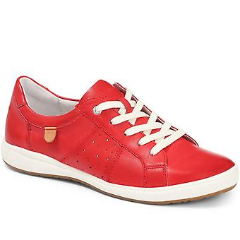 Leather lace-up trainer - josef