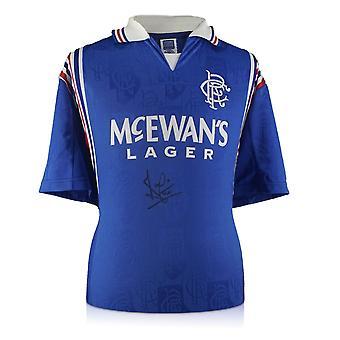 Ally McCoist Front signiert Rangers Shirt