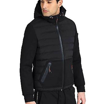 Guess Men's QuiltedLook Hooded Puffer Kurtka