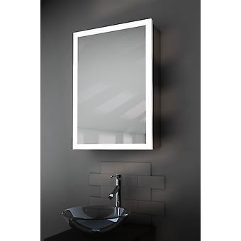 K418 Amara borda banheiro armário com desembaçador, Sensor & Shaver