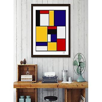 Mondrian de stijl konst rörelse ram