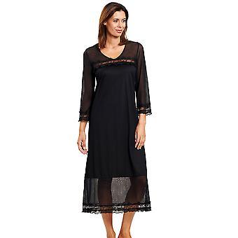 Féraud 3201037-10995 Women's Couture Black Loungewear Nightdress