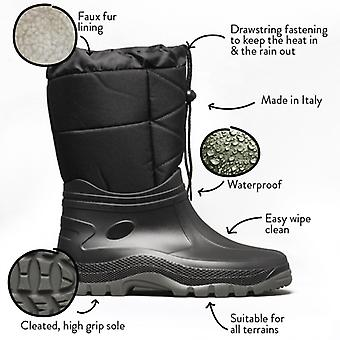 Mud Dogs Nordic Mens Winter Mid Calf Boots Noir