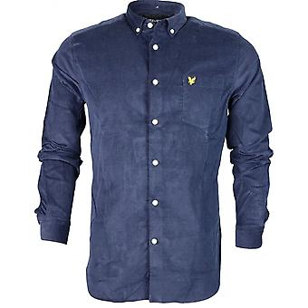 Lyle & Scott Lw717v Cotton Mini Cord Long Sleeve Navy Shirt