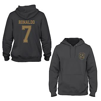Cristiano Ronaldo 7 Real Madrid Stil Spieler Hoodie