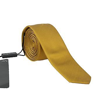Dolce & Gabbana žltá hodváb pevné Slim kravatu