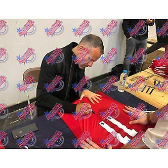 Manchester United Giggs Trikot (gerahmt) unterzeichnet