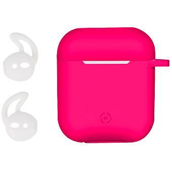 Celly Airpod كيس حقيبة Aircase Sporthooks تعيين الوردي