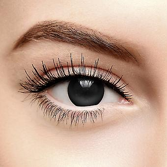 Black Blind Zombie Halloween Coloured Contact Lenses (Daily)