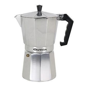 Pot de café italien Quttin Aluminium/9 Tasses