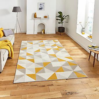 Vancouver 18214 Beige Yellow Rectangle Rugs Modern Rugs