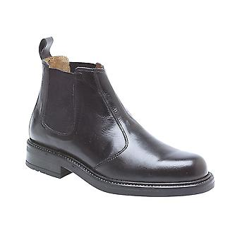 Roamers Black Leather Chelsea Boot Huge Sales - A Star ! Leather Sock Stout Grip Tr Sole